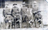 John Harrisburg, his brother Alexander and fellow Marines, ca. 1917