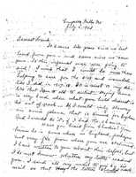 Ida and Llewellyn Solomon letter to son, Frank, 1943