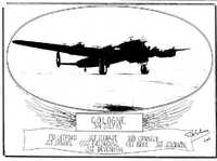 Drawing commemorates U.S. Army Air Force pilots, including Frank Solomon of Coopers Mills, 1943