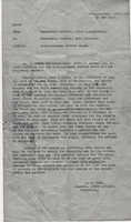 Commander of the 103rd Infantry, Col. F.M. Hume's letter of February 26, 1919, recommending Nemo Burbank for the Distinguished Service Cross