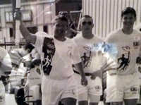 Carrying the Olympic torch, 1996 Atlanta games