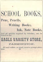 Ad from the Franklin Journal