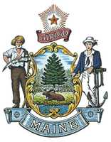 The official Maine State Seal