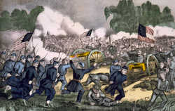 Battle of Gettysburg - By Currier & Ives