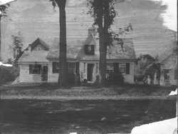 Home of May Sisters, with School at far right