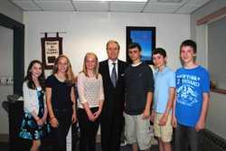 Maine Studies students with Secretary Cohen.