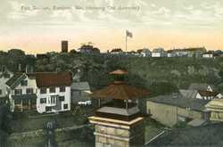 Old Barracks at Fort Sullivan, ca. 1907