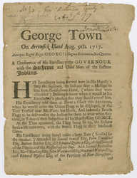 Conference at George Town and Arrowsick Island, Aug. 9th, 1717