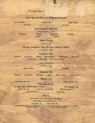 Pilots Grill menu, 1948 page 4