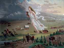 """""""American Progress"""" 1872 by John Gast"""