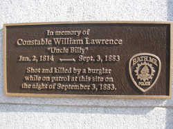 William Lawrence Plaque