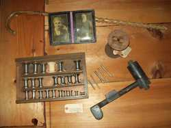 Various items from the MacGregor collection at the Lincoln Historical Society