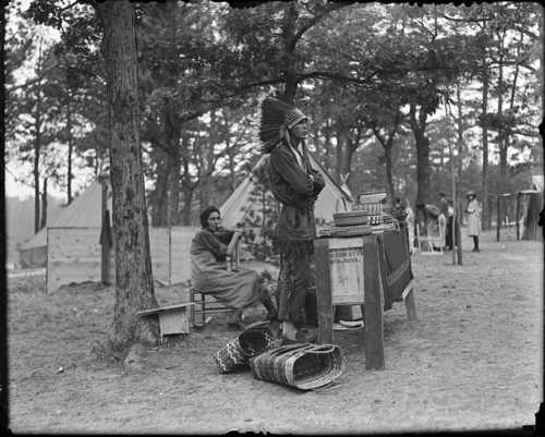 Margaret and Joseph Nicholas, Passamaquoddy, in Plymouth, Massachusetts, 1921, Courtesy of the Boston Public Library, Leslie Jones Collection